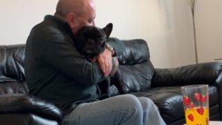 【海外の反応】かつて愛犬を失い、「二度と犬は飼わない」と誓っていたはずの父~現在の様子