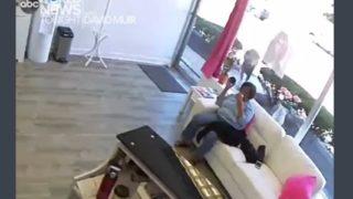 衝撃!ガラス窓をぶち破って美容室に突入したシカ、美容師さんを泣かせる…