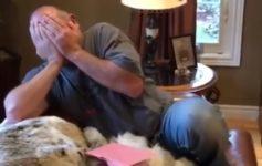 【海外の反応】3週間で愛犬2匹を亡くしたお父さんに娘が贈ったもの…